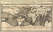 Kircher's geological world map,1668