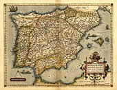 Ortelius's map of Iberian Peninsula,1570
