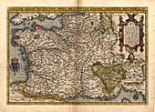 Ortelius's map of France,1570