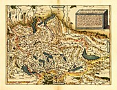 Ortelius's map of Switzerland,1570