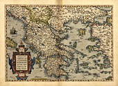 Ortelius's map of Greece,1570