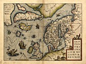 Ortelius's map of Northern Europe,1570