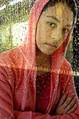 Woman in a hoodie