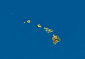 Hawaii,satellite image