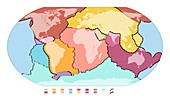 World tectonic plates,global map
