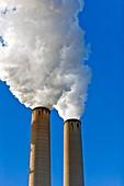 Factory smokestacks,Florida,USA