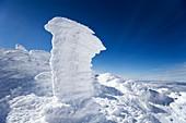Rime ice on the summit of Mt. Washington