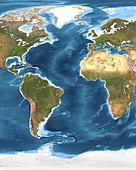 Atlantic Ocean sea floor topography