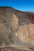 Angular unconformity of Tertiary basalt
