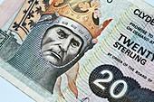 Twenty pound Scottish banknote