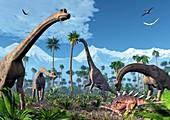 Brachiosaurus dinosaurs,artwork