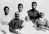 Six African-American generations,1890s