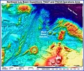 West Mata underwater volcano,bathymetry