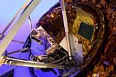 Huygens probe mounted on heat shield