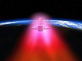 Space shuttle re-entry,artwork