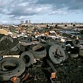 Illegal rubbish dump