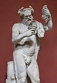 Silenus,Roman god of wine