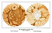 Schiaparelli's map of Mars,1879