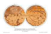 Schiaparelli's map of Mars,1882-1888