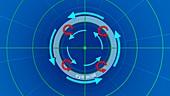Hurricane 'hot tower' simulation
