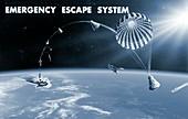 Spacecraft escape system,artwork