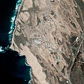 Vandenberg spaceport,satellite image