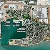 Marina Bay,California,satellite image