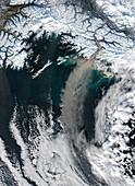 Glacial dust storm,Alaska