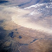 Afghan dust storms,space shuttle image
