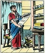 Papyrus scrolls,Ancient Rome