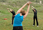 Women performing Chi kung
