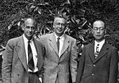 Fermi,Segre and Yukawa,Nobel physicists