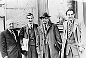 Soviet and British nuclear physicists