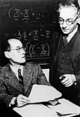 Yukawa and Rabi,Nobel physicists