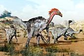 Therizinosaurus dinosuars