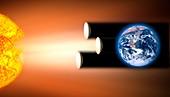 Global warming sun shields,artwork