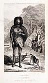 Fuegian from Darwin's Beagle voyage