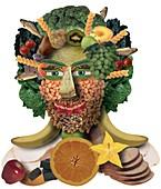 Food man,conceptual image