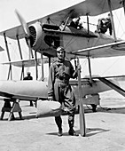Byrd with seaplane,1925