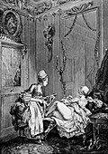 Enema treatment,18th century