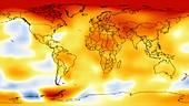 Global temperature anomalies 2006-2010