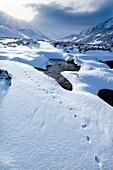 Snowy landscape,Scotland