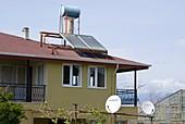 Solar water heating in rural Turkey