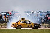 Stock car racing near Appleby,Cumbria UK