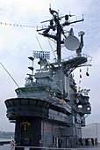 Bridge of USS Intrepid aircraft carrier