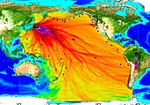 2011 tsunami height and travel times