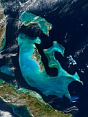 The Bahamas,satellite image