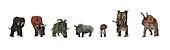 Cerapod dinosaurs compared to a rhino