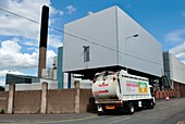 Waste incinerator lorry