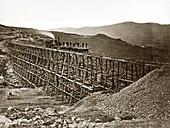 Central Pacific Railroad construction